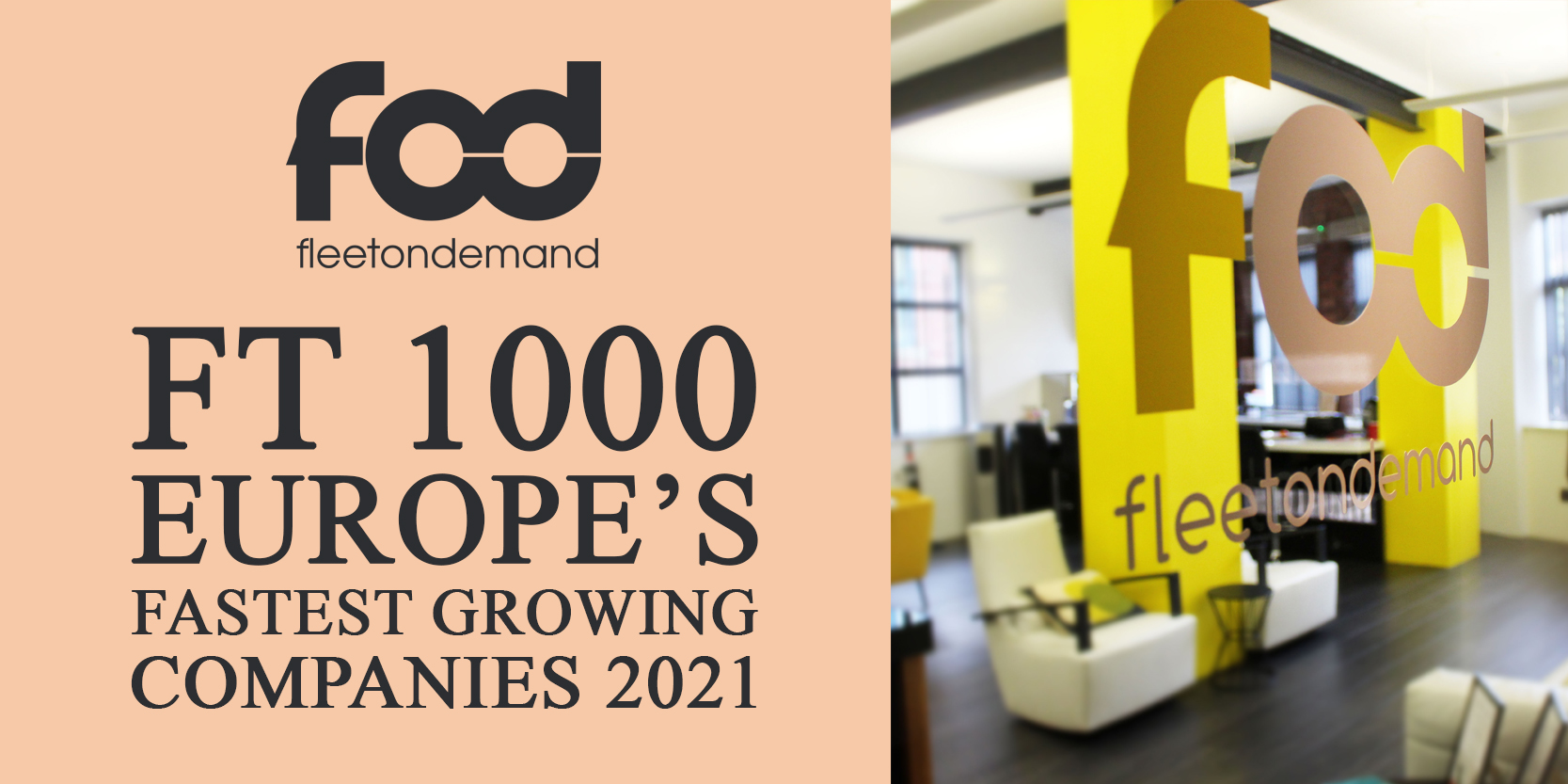 Fleetondemand recognised in FT 1000 as one of Europe's Fastest Growing Companies